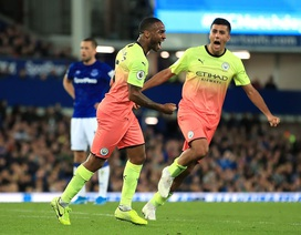Vượt ải Goodison Park, Man City tiếp tục bám đuổi Liverpool