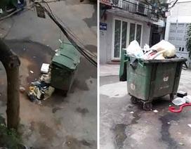 Người dân sống giữa Thủ đô khốn khổ vì những thùng rác bốc mùi xú uế