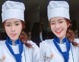 """""""Hot girl phụ bếp"""" đang được quan tâm trên mạng xã hội"""