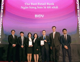 BIDV xuất sắc nhận hai giải thưởng danh giá trong lĩnh vực tài chính bán lẻ