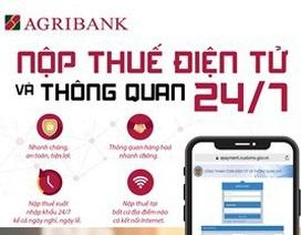 Agribank triển khai dịch vụ nộp thuế điện tử và thông quan 24/7