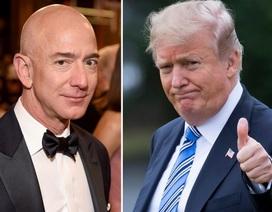 """Ông Trump chúc tỷ phú Amazon """"may mắn"""" sau vụ ly hôn ồn ào"""