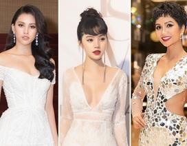 H'Hen Niê lạ lẫm với tóc xoăn; Hoa hậu Jolie Nguyễn quyến rũ với váy ren xuyên thấu