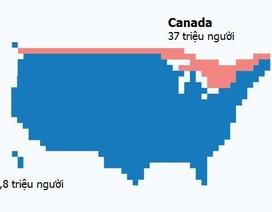 """Trái đất """"cực lạ"""" qua bản đồ tương quan về dân số"""