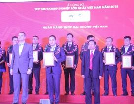 PVN và nhiều doanh nghiệp dầu khí được vinh danh Top 500 Doanh nghiệp lớn nhất Việt Nam năm 2018