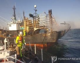 Cháy tàu cá 85 tấn tại Hàn Quốc, 1 người Việt Nam thiệt mạng