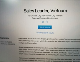 Apple tuyển giám đốc kinh doanh ở Việt Nam để quyết giành lại thị phần