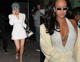 Rihanna và Kylie Jenner khoe dáng gợi cảm với váy trắng