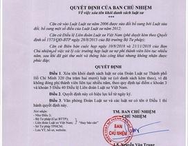 320 luật sư bị xóa tên vì không chịu đóng phí