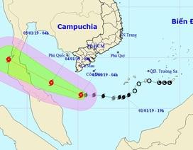 Bão số 1 mạnh lên, Nam Biển Đông có gió mạnh và sóng lớn