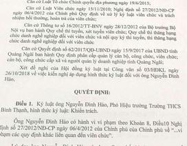 """Quảng Ngãi: Chủ tịch Hội đồng thi giáo viên có sai phạm """"tự phê bình nghiêm khắc"""""""