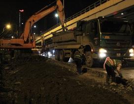 Hà Nội: Xén vỉa hè, mở rộng đường Láng trong đêm lạnh