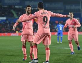Messi và Suarez rực sáng, Barcelona vững ngôi đầu bảng La Liga