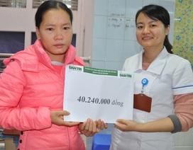 Hơn 40 triệu đồng đến với chị Lê Thị Xuân bị bệnh tim