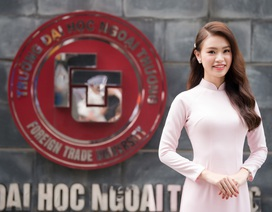 """""""Cô gái vàng"""" của """"làng"""" Hoa hậu Việt Nam tốt nghiệp ĐH Ngoại thương loại xuất sắc"""