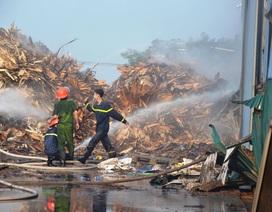 Cháy lớn tại xưởng chế biến than sạch xuất khẩu