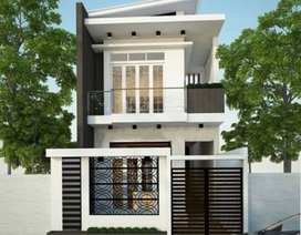 Mẫu nhà phố 2 tầng tuyệt đẹp cho khu đất mặt tiền hẹp