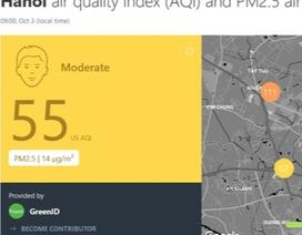 Ứng dụng AirVisual hạ mức cảnh báo không khí ô nhiễm tại Hà Nội