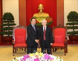 Tổng Bí thư, Chủ tịch nước Nguyễn Phú Trọng tiếp Thủ tướng Campuchia Hunsen