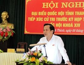 Bộ trưởng Đào Ngọc Dung tiếp xúc cử tri tại Thanh Hoá