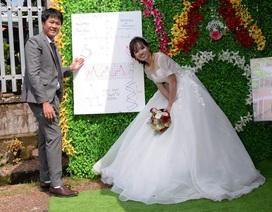 """Độc đáo """"ảnh cưới"""" bằng đồ thị, ADN của thầy dạy Sinh và cô dạy Toán"""