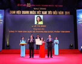 """CEO Dược phẩm Tâm Bình được vinh danh """"Doanh nhân Việt Nam tiêu biểu 2019"""""""