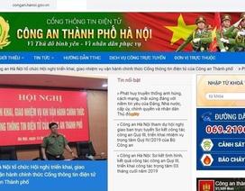 Vận hành chính thức Cổng thông tin điện tử Công an thành phố Hà Nội