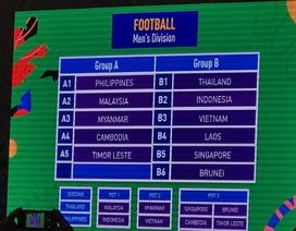 U22 Việt Nam cùng bảng với Thái Lan ở SEA Games 30