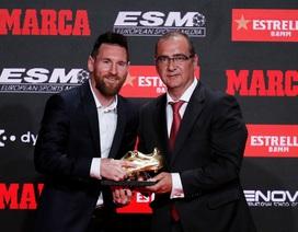 Messi lần thứ 6 nhận danh hiệu Chiếc giày vàng châu Âu