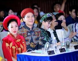 Thuý Nga, Vũ Mạnh Cường thân mật trên ghế giám khảo