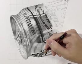 """Tuyệt tác tranh vẽ 3D bằng chì """"thật đến kinh ngạc"""" của nghệ sĩ Nhật Bản"""