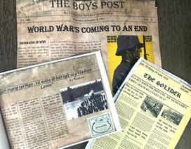 Học sinh Hà Nội sáng tạo bài tập Lịch sử theo phong cách báo chí