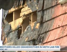 2 cháu trai bỏ mặc bà chết cháy, chỉ cứu thiết bị phòng điều chế ma tuý đá