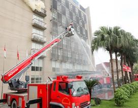 Hoạt động diễn tập phòng cháy chữa cháy hưởng ứng tháng phòng chống cháy nổ 2019