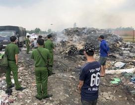Cơ sở phế liệu đốt hàng tấn rác thải sai quy định