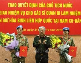 2 sĩ quan Việt Nam đi làm nhiệm vụ gìn giữ hòa bình tại Nam Sudan