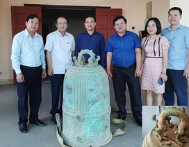 Chuông quý đời Trần sắp thành phế liệu được bàn giao cho Bảo tàng Tỉnh Hà Tĩnh