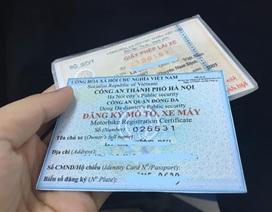 Đăng ký xe sẽ là thẻ nhựa, có mã vạch QR