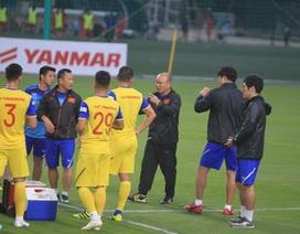 Đội tuyển Việt Nam bất ngờ đổi kế hoạch tập luyện vì thời tiết