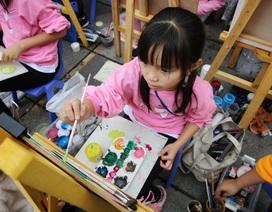"""Hơn 200 """"hoạ sĩ nhí"""" tham gia cuộc thi vẽ tranh vì môi trường xanh"""