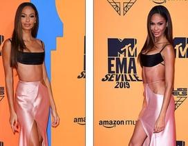 Siêu mẫu áo tắm đẹp như tượng trên thảm đỏ lễ trao giải MTV