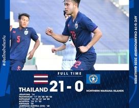 Suphanat rực sáng, U19 Thái Lan đại thắng kinh hoàng… 21-0