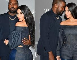 Kim Kardashian diện đồ Jeans lạ mắt khoe dáng nảy nở