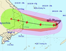 Bão Nakri giật cấp 15 đang hướng vào Nam Trung Bộ