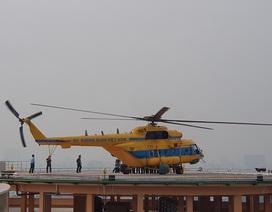 Trực thăng cấp cứu đáp thẳng xuống nóc Viện Chấn thương Chỉnh hình
