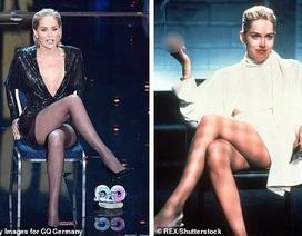 """Sharon Stone tái hiện cú vắt chân kinh điển trong """"Bản năng gốc"""""""