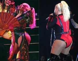 Christina Aguilera khoe dáng đẫy đà trên sân khấu