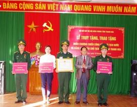 Truy tặng huân chương chiến công cho sĩ quan biên phòng hi sinh khi truy bắt tội phạm