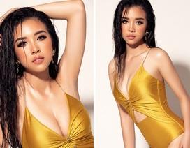 Á hậu Thúy An nóng bỏng với bikini trên trang chủ Hoa hậu Liên lục địa