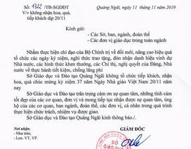 Quảng Ngãi: Sở Giáo dục không nhận quà dịp 20/11